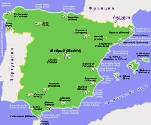 карта испания