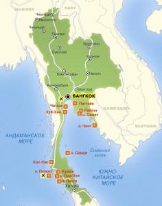 карта тайланд