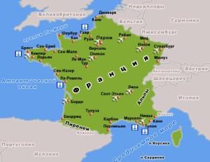 франция карта